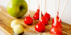 These Candy Apple Lollipops have a crunchy candy coating with crisp Granny Smith apple on the insides. They're a bite-sized treat to make this fall.