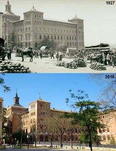 Seminario Conciliar en Las Vistillas, 1927 vs 2018. Madrid, España. Spanish, Louvre, Building, Travel, Photo Caption, Old Photography, Antique Photos, Past Tense, Cities