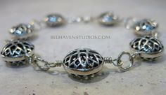 Balinese sterling silver filigree cross design by BelhavenStudios