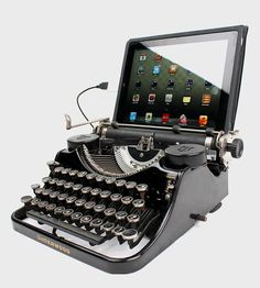 Create a mash-up of futuristic technology and vintage charm with this USB Typewriter, which is hand-crafted from a restored Underwood Typewriter.