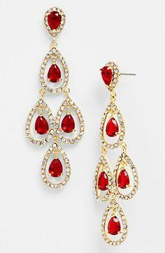 Lauren Ralph Lauren Pavé Chandelier Earrings available at #Nordstrom