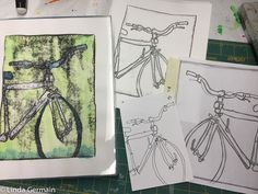 Making multiple monotypes from a sketch Foam Sheets, Ballpoint Pen, Mixed Media Art, Screen Printing, Stencils, Printmaking Ideas, Abstract, Art Journaling, Drawings
