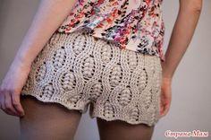 Pantalón corto ganchillo
