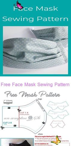diy face mask sewing pattern Free Face Mask Sewing Pattern - Tutorial, Free Sewing Pattern, Medical Face Mask Mask with filter — Little Stitch Studio Step by step surgical face mask cloth<br>