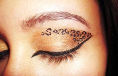 Leopard Augen Make-up   Mode