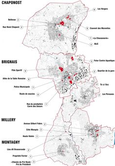 GAR - carte localisation des sites CCVG