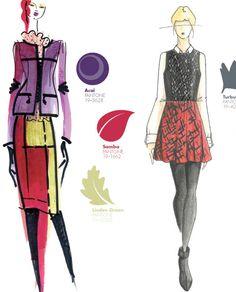 fall winter 2013 2014 new york fashion week color report, pantone, Yoana Baraschi, Ella Moss by Pamella Protzel-Scott