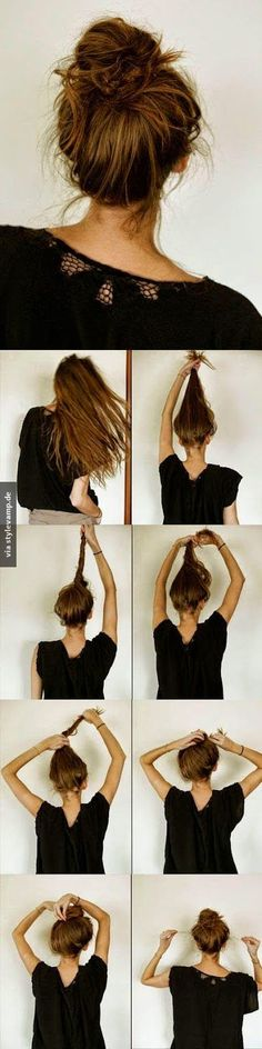 10 Ways To Make Cute Everyday Hairstyles Long Hair Tutorials - easy hairstyles casual easy hairstyles to do on yourself Cute Everyday Hairstyles, Trendy Hairstyles, Long Haircuts, Easy Hairstyles For Work, Sport Hairstyles, Hairstyles 2018, Hair Styles Everyday, Easy School Hairstyles, Easy Bun Hairstyles For Long Hair