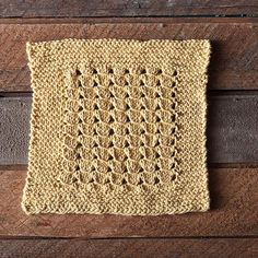 I'm very proud to introduce, not only my first dishcloth, but my first ever published pattern! Mrs. Hunter's Dishcloth is based on an easy lace pattern from my favorite stitch dictionary, Barbara G. Walker's A Treasury of Knitting Patterns, and named after a woman from a prominent Shetland knitting family.