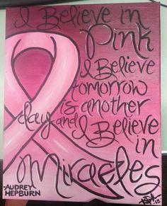 Audrey Hepburn Cancer Awareness Quote Painting by KreativelyDun