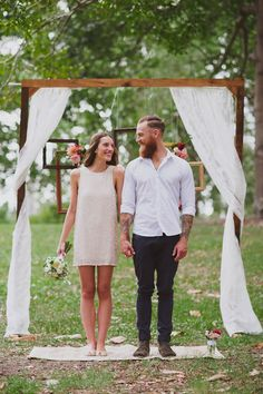 Boho chic- I want to have the coolest, simplest small wedding- with flats, or barefoot, outside, no suits, casual bridesmaids, hair down, fire, band, organic food.  no bridal tosses, no toasts, no chicken dance or games.