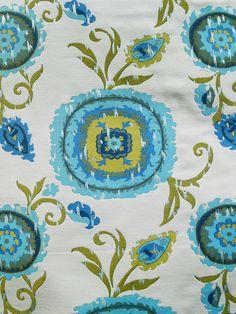 FRESCO SO PURE #blue-turquoise #green #suzani #woven-fabrics