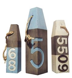 House Numbers Buoys