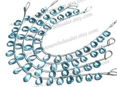 Sky Blue Topaz Faceted Pear Quality AAA / by GemstoneWholesaler