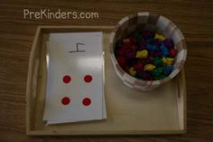 Love the matching objects to dots idea... Helps kids develop the 1-to-1 sense of counting