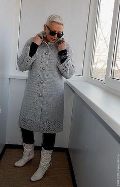 Crochet Hooded Baby Cardigan Making - Sevdiğim Örgüler Gilet Crochet, Crochet Coat, Knitted Coat, Crochet Jacket, Knit Jacket, Crochet Cardigan, Crochet Clothes, Baby Cardigan, Cardigan Outfits