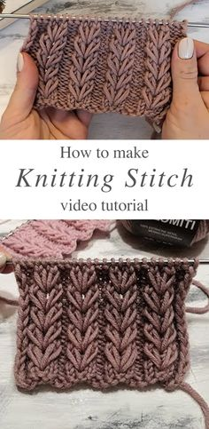 Easy Knitting Stitch To Make Voluminous Patterns This video tutorial will teach you how to make an easy knitted stitch. It will come in handy if you prefer your knit work to look puffy or be warm. Knit Stitches For Beginners, Easy Knitting Patterns, Knitting Tutorials, Simple Knitting Projects, Designer Knitting Patterns, Creative Knitting, Knitting Supplies, Knitting Designs, Sewing Patterns