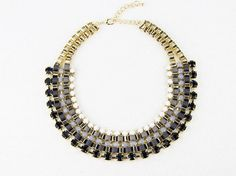 Chunky Necklae,black Grey Necklace,paved Chain Statement Necklace,fashion Collar Choker Necklace, $9.99