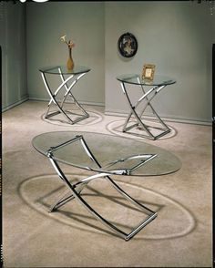 Complete your new modern living room with the Acme Furniture Paradise 3 Piece Nickel Plated Coffee Table Set , a matching set of two end tables and. Iron Furniture, Acme Furniture, Steel Furniture, Home Office Furniture, Quality Furniture, Living Room Furniture, Furniture Design, Furniture Ideas, Kitchen Furniture