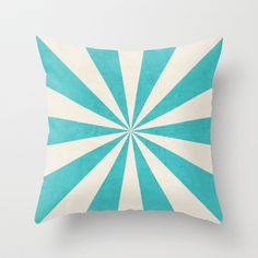 Aqua and Navy Starburst Throw Pillow - Geometric Pillow - Modern Decor - Throw Pillow - Urban Decor - by Beverly LeFevre Urban Decor, Modern Decor, Pink Starburst, Pink Color Schemes, Cute Bedroom Ideas, Nursery Ideas, Living Room Pillows, Diy Cushion, Geometric Pillow