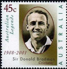 Issued of March Sir Don ald Bradman Australian Legends. Australia Facts, Tours Of England, Commemorative Stamps, Australian Men, Aboriginal People, Stamp Collecting, Portrait, Postage Stamps, Literature
