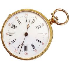 Rare! Exquisite 14K Gold French Pocket Watch 26 grams from julesjewels on Ruby Lane