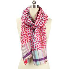 Bottom of My Heart Printed Scarf, $49, now featured on Fab.