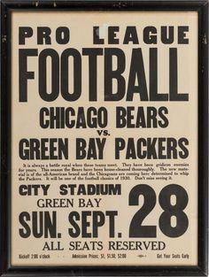 Bears Vs. Pack Historic Rivalry