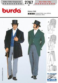 Men's jacket, waistcoat, trousers