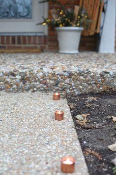 DIY copper tealights