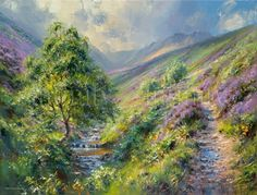 """""""Footpath to Kinder, Fairbrook Valley"""" by Rex Preston - limited edition print"""