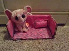Beanie boo couch made from a shoe book all I did was cut of one of the sides