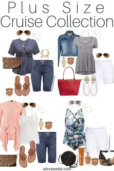 Plus Size Cruise Collection - Casual Outfits - Alexa Webb - Plus Size Cruise Collection – Casual Vacation Outfits – Plus Size Fashion – Alexa Webb – al - Outfits Plus Size, Trendy Outfits, Summer Outfits, Classy Outfits, Summer Clothes, Beach Outfits Women Plus Size, Early Spring Outfits, Cute Outfits, Beautiful Outfits
