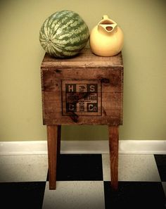 DIY side tables from old crates at Design Sponge