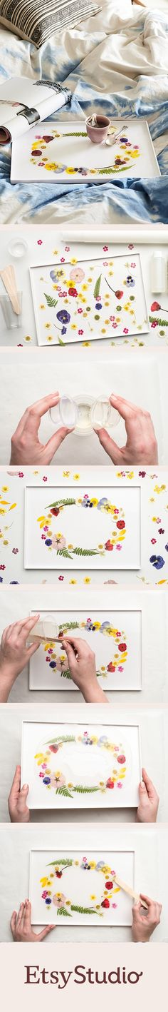 Make lazy days in bed extra lovely with a pretty pressed flower tray. Find out how to create your own.