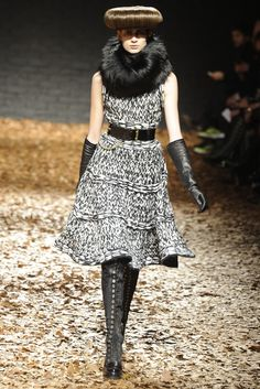 McQ Alexander McQueen --- lovely dress with a dark underlying atmosphere....very McQueen.