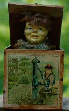 Antique Jack In The Box Toy Not In Working Condi Noodle