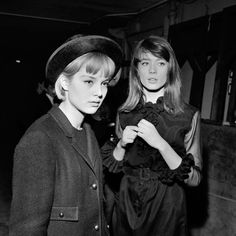 Sylvie Vartan and Françoise Hardy, at the Olympia, November 1963