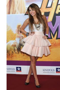 At the Madrid premiere of Hannah Montana: The Movie in 2009.    - HarpersBAZAAR.com