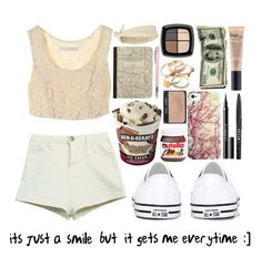 """""""It's just a smile but it gets me everytime :]"""" by sunshinegirl-11 ❤ liked on Polyvore featuring Converse, Madewell, Call it SPRING, Samsung, River Island, Givenchy, Stila, Eddie Funkhouser and philosophy"""