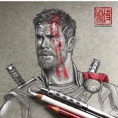 "308 kedvelés, 5 hozzászólás – Undiscovered Artists Rescued (@artists__rescue) Instagram-hozzászólása: ""Epic start to a new Thor piece by @art_of_supershinobi _ _ Tag #artists_rescue for a possible…"""