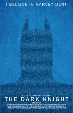 The Dark Knight Typography Poster- the amount of love I have for this poster/movie it's based on is just unreasonable.