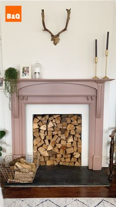 Good Images Electric Fireplace living room Tips Inspired by Parisian boudoirs, the muted rose tone of Sulking Room Pink (one of nine new Farrow & B New Living Room, Living Room Interior, Living Room Decor, Farrow And Ball Living Room, Living Spaces, Paint Fireplace, Bedroom Fireplace, Fake Fireplace, Electric Fireplace