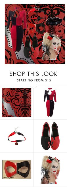 sophisticated Harley quinn by amy-batman-cooper on Polyvore featuring Masquerade and Astek