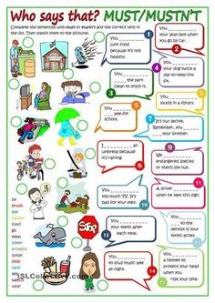 Modal verbs - MUST or MUSTNT