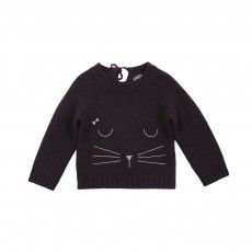 Cat ullover Charcoal grey