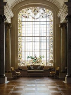 Magnificent #interior. Floor To Ceiling Window For Light And Space,  Classical Columns.