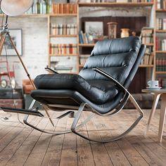 Rockport Rocking Chair - Black - by GARAGEEIGHT #MONOQI