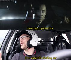Acting vs real life. Altough he does drive a Jag in real life.