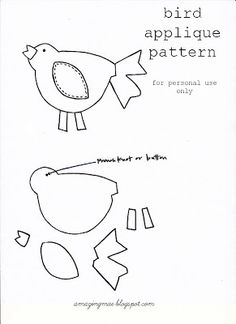 Bird applique pattern